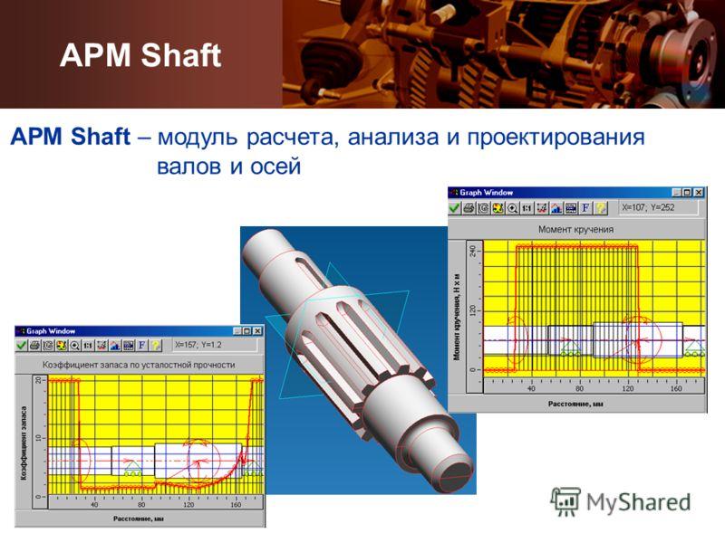 APM Shaft APM Shaft – модуль расчета, анализа и проектирования валов и осей