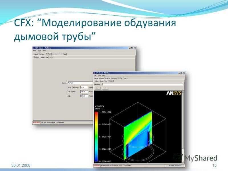 CFX: Моделирование обдувания дымовой трубы 30.01.200813