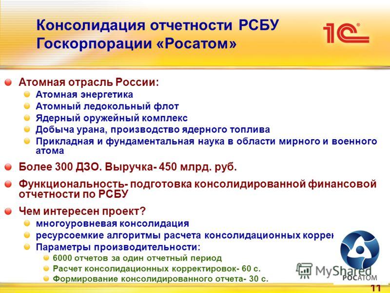 11 Атомная отрасль России: Атомная энергетика Атомный ледокольный флот Ядерный оружейный комплекс Добыча урана, производство ядерного топлива Прикладная и фундаментальная наука в области мирного и военного атома Более 300 ДЗО. Выручка- 450 млрд. руб.