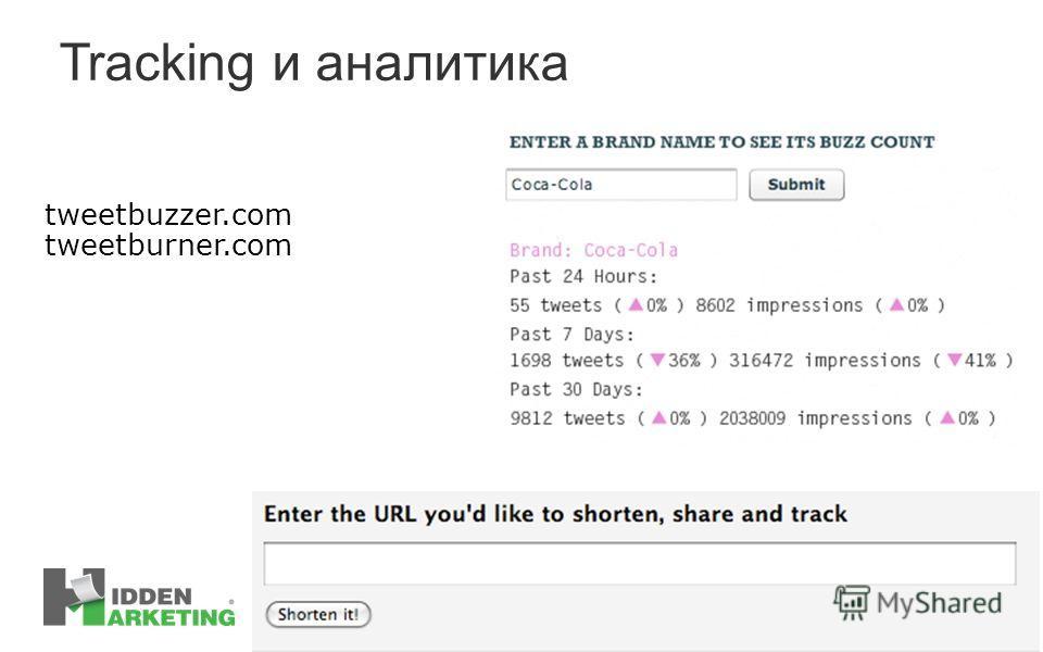 Tracking и аналитика tweetbuzzer.com tweetburner.com