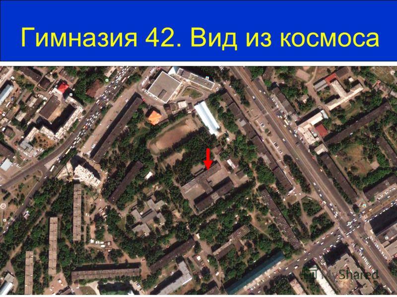 Гимназия 42. Вид из космоса