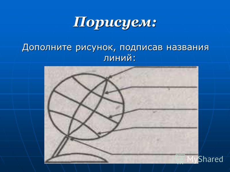Порисуем: Дополните рисунок, подписав названия линий: