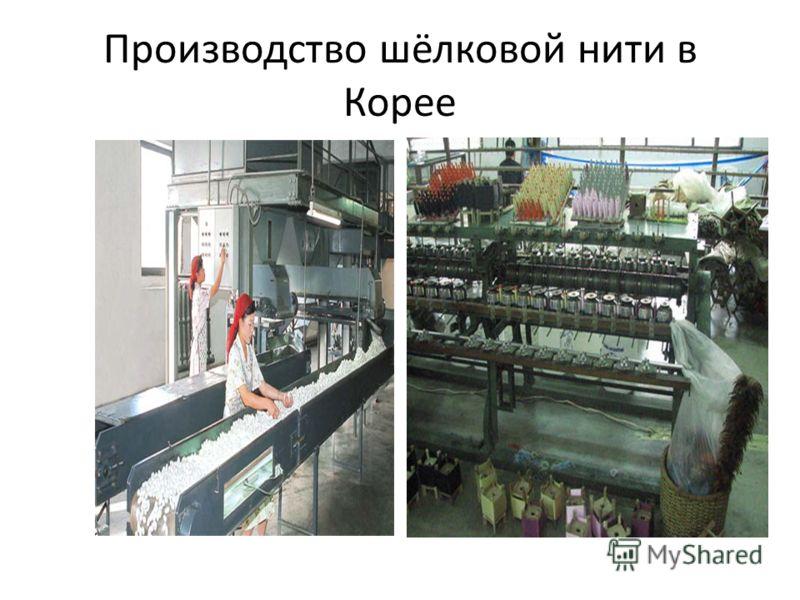 Производство шёлковой нити в Корее
