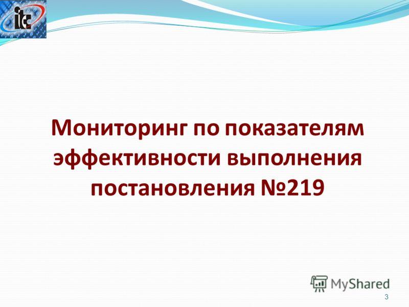 3 Мониторинг по показателям эффективности выполнения постановления 219