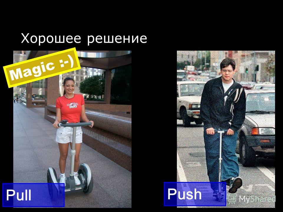 Хорошее решение Push Pull Magic :-)