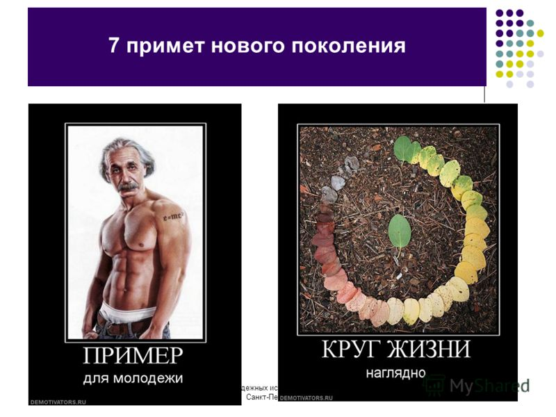 Центр молодежных исследований ГУ-ВШЭ в Санкт-Петербурге 7 примет нового поколения