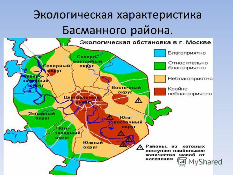 Экологическая характеристика Басманного района.