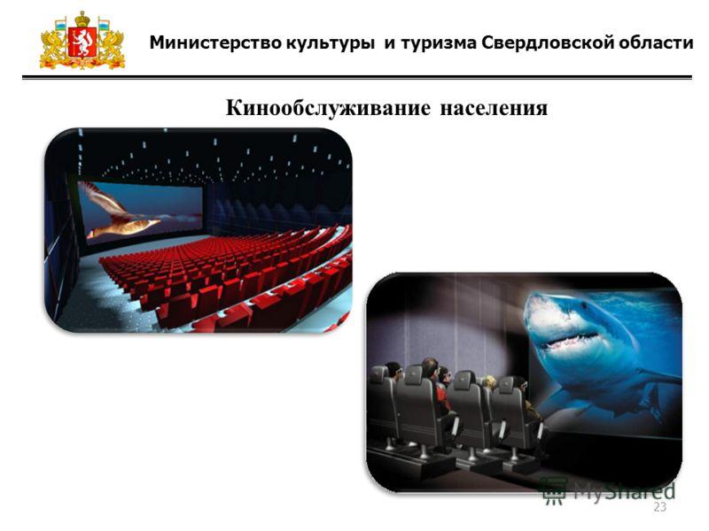 Министерство культуры и туризма Свердловской области Кинообслуживание населения 23