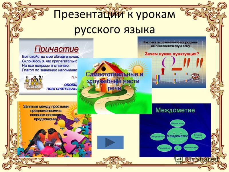 Презентации к урокам русского языка