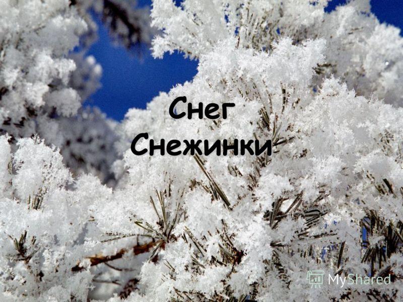 Снег Снежинки