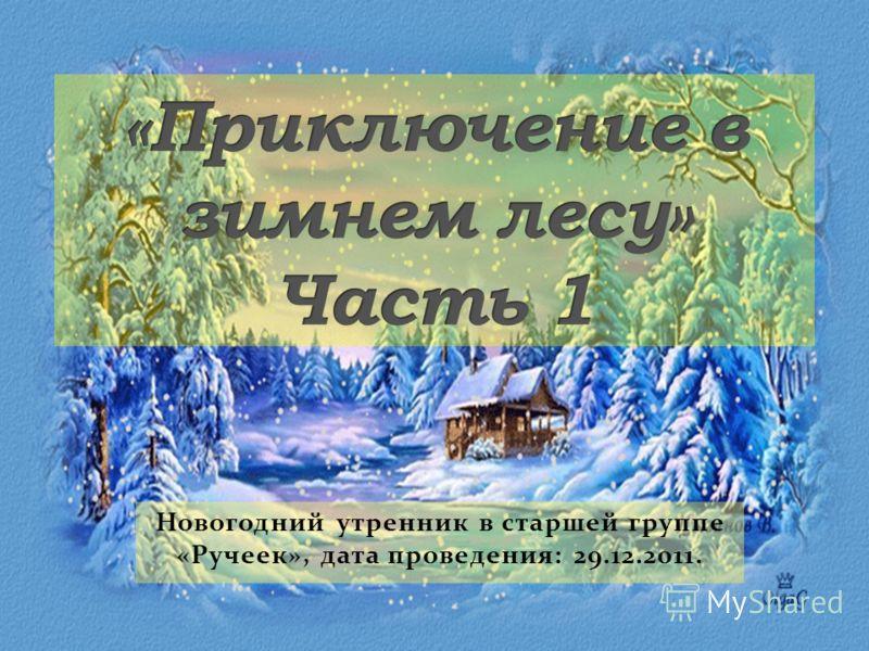 Новогодний утренник в старшей группе «Ручеек», дата проведения: 29.12.2011.