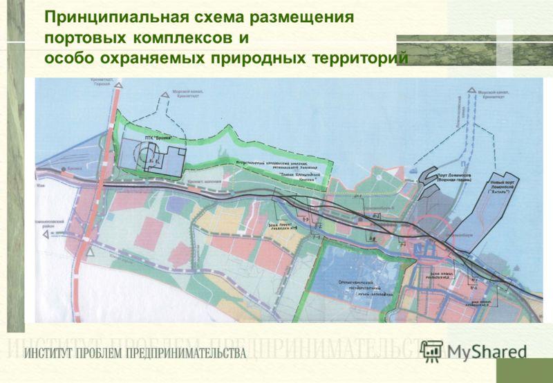 Принципиальная схема размещения портовых комплексов и особо охраняемых природных территорий