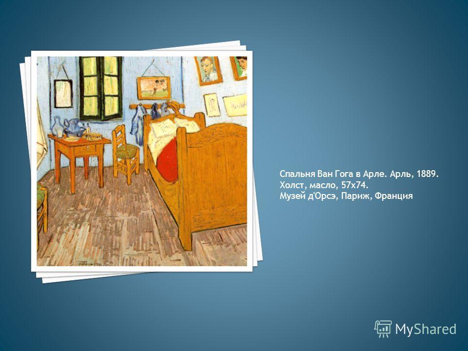 Спальня Ван Гога в Арле. Арль, 1889. Холст, масло, 57 х 74. Музей д'Орсэ, Париж, Франция
