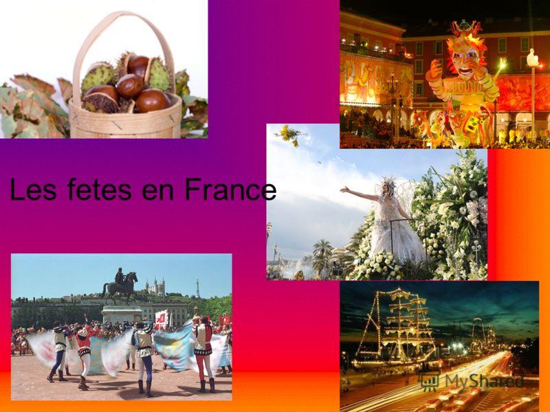 Les fetes en France