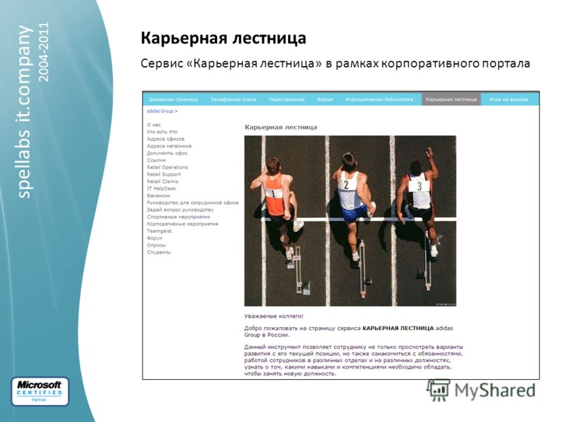 spellabs it.company 2004-2011 Карьерная лестница Сервис «Карьерная лестница» в рамках корпоративного портала