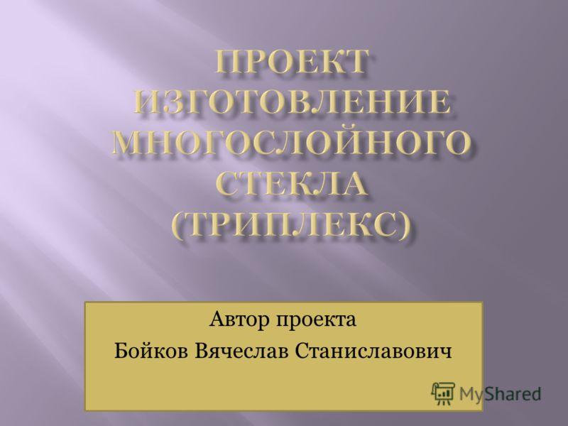 Автор проекта Бойков Вячеслав Станиславович