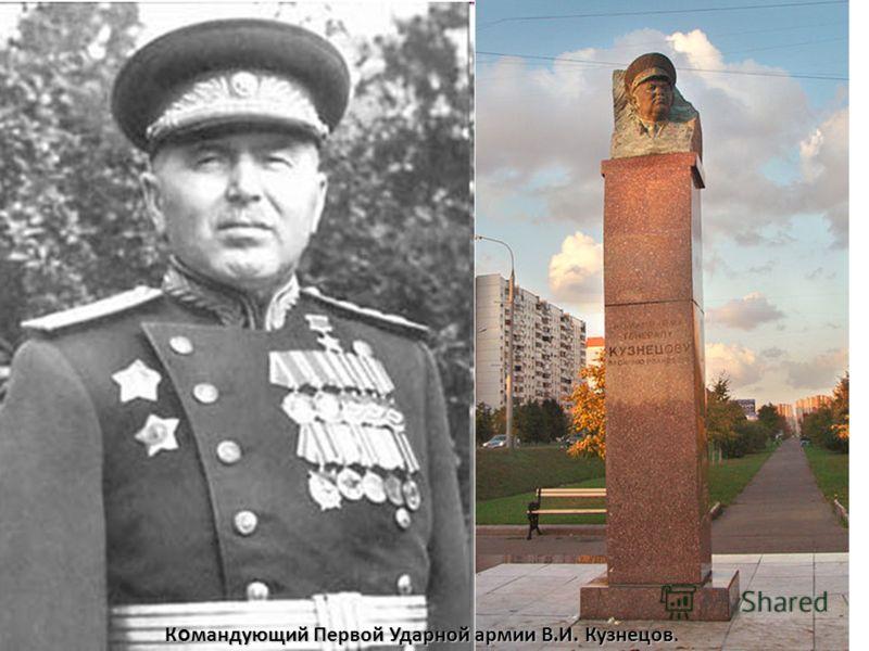 К о мандующий Первой Ударной армии В.И. Кузнецов К о мандующий Первой Ударной армии В.И. Кузнецов.