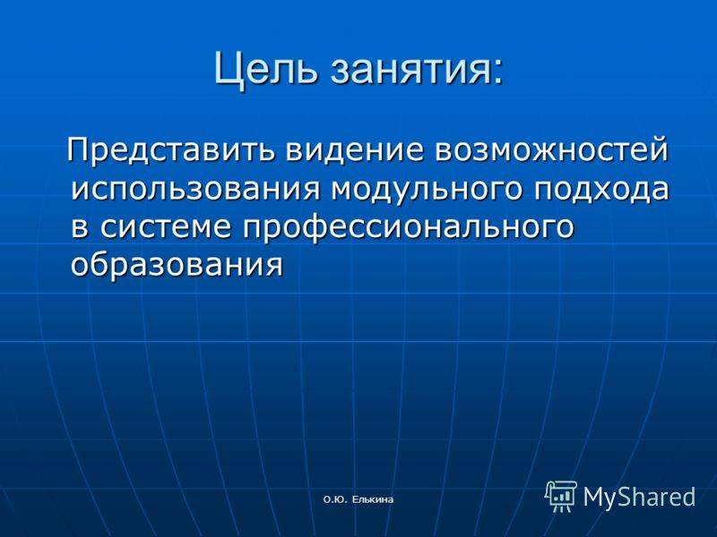 Модульное построение основной образовательной программы (уровень бакалавра) Елькина Ольга Юрьевна, доктор педагогических наук, доцент 16 декабря 2009 года