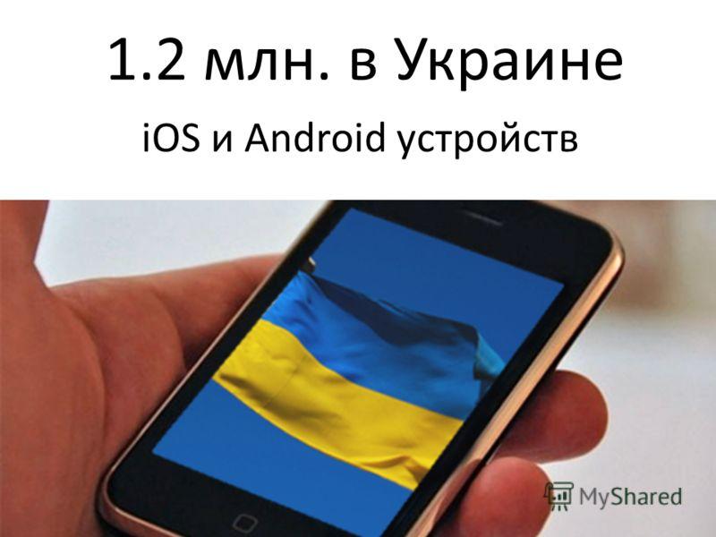 1.2 млн. в Украине iOS и Android устройств