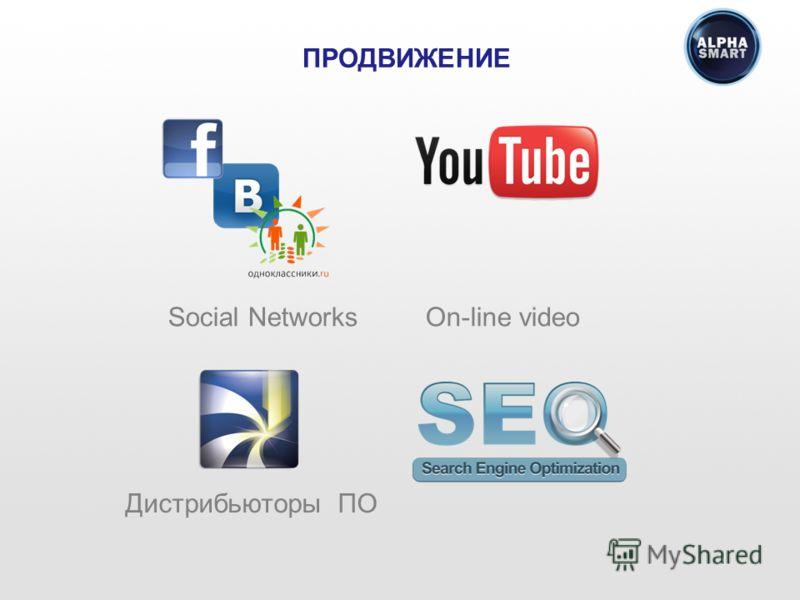 Social Networks On-line video ПРОДВИЖЕНИЕ Дистрибьюторы ПО