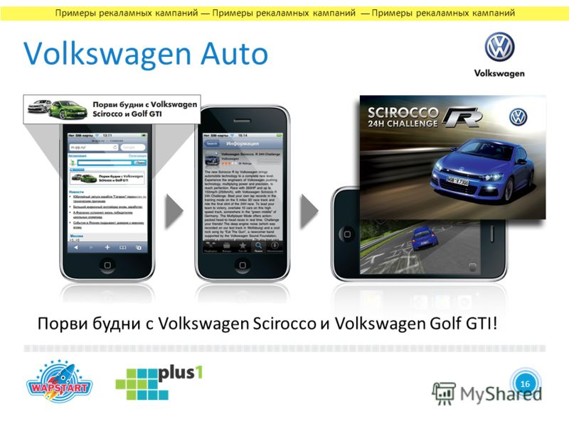 4 Volkswagen Auto 1616 Порви будни с Volkswagen Scirocco и Volkswagen Golf GTI! Примеры рекаламных кампаний Примеры рекаламных кампаний Примеры рекаламных кампаний