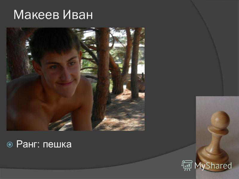 Макеев Иван Ранг: пешка