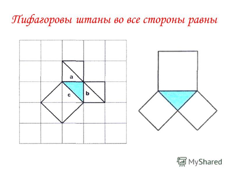 Если дан нам треугольник, И притом с прямым углом, То квадрат гипотенузы Мы всегда легко найдём: Катеты в квадрат возводим, Сумму степеней находим – И таким простым путём К результату мы придём. Теорема в стихах