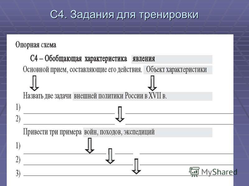 С4. Задания для тренировки