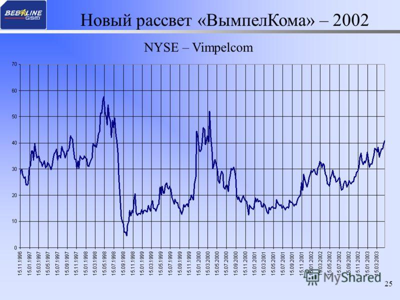 25 NYSE – Vimpelcom Новый рассвет «ВымпелКома» – 2002