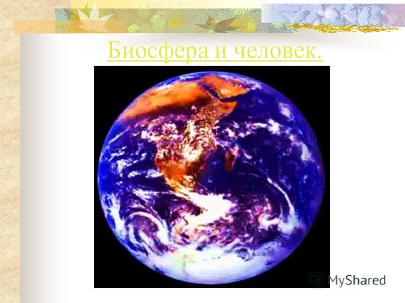 Презентация на тему Биосфера и человек Биосфера Биосфера от  1 Биосфера и человек