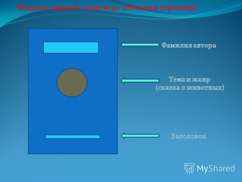 Модель первой страницы обложки (пример):