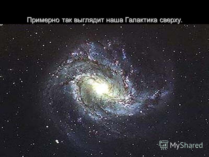 Примерно так выглядит наша Галактика сверху.