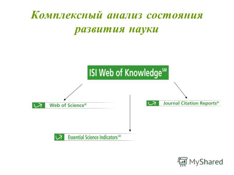Комплексный анализ состояния развития науки