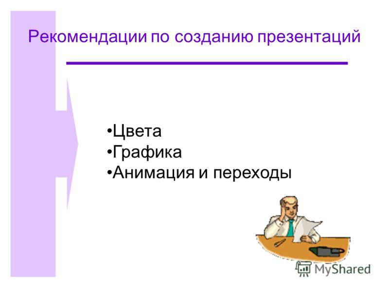 Рекомендации по созданию презентаций Цвета Графика Анимация и переходы