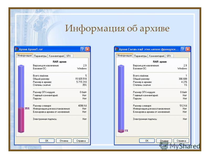 Информация об архиве