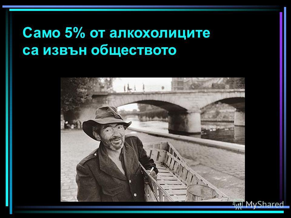 Само 5% от алкохолиците са извън обществото