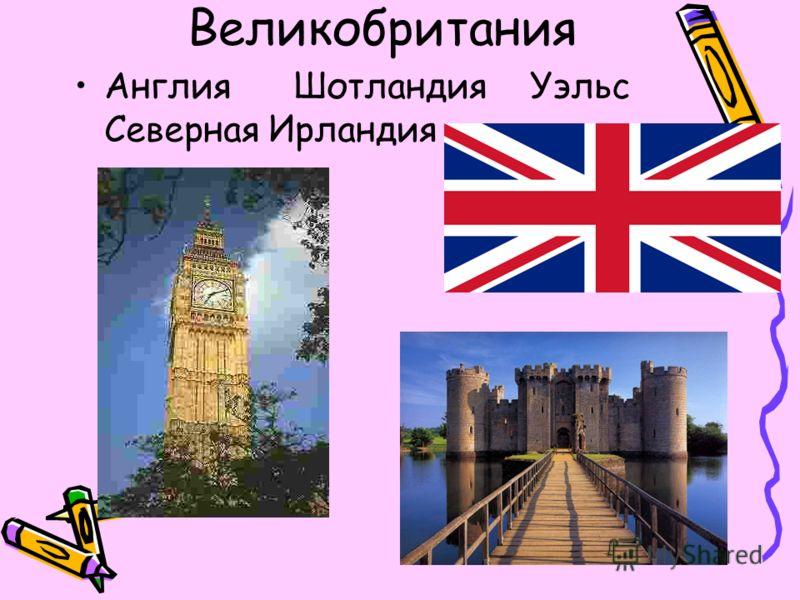 Великобритания Англия Шотландия Уэльс Северная Ирландия
