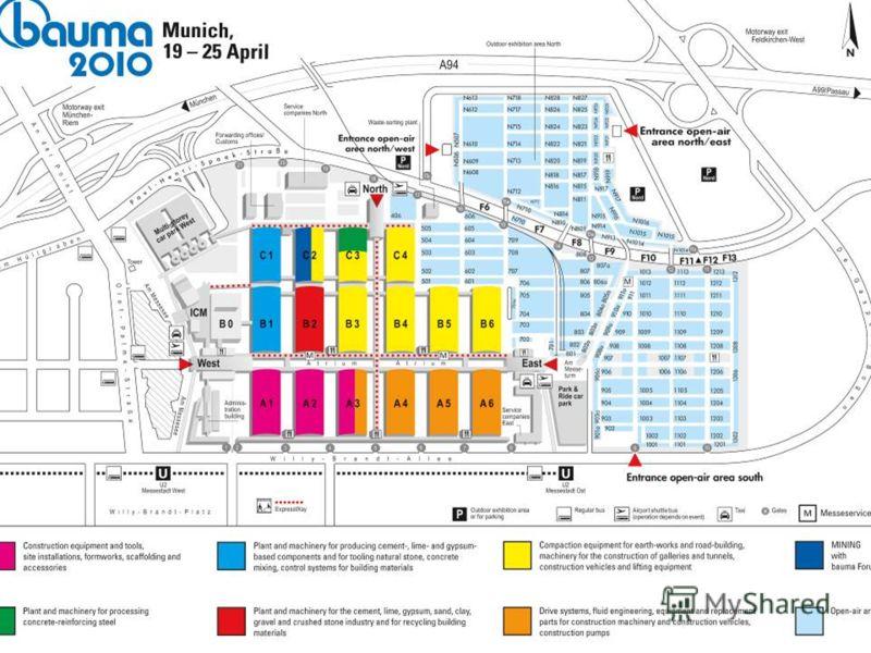 bauma 2010: Provisional floorplanning