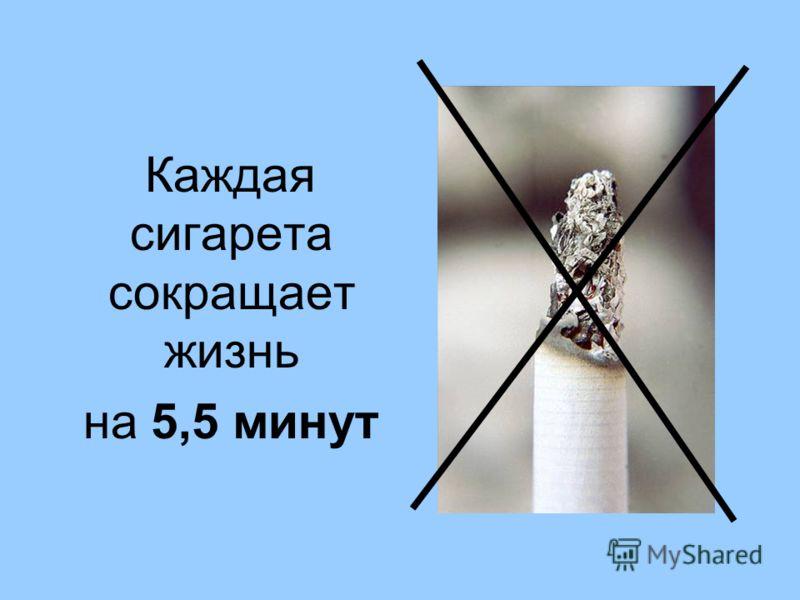 Каждая сигарета сокращает жизнь на 5,5 минут