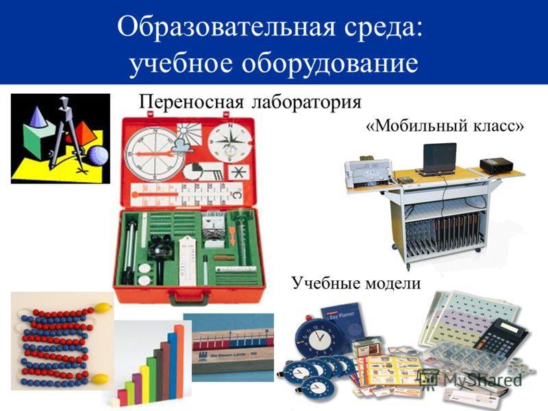 27 Образовательная среда: учебное оборудование Учебные модели Переносная лаборатория «Мобильный класс»