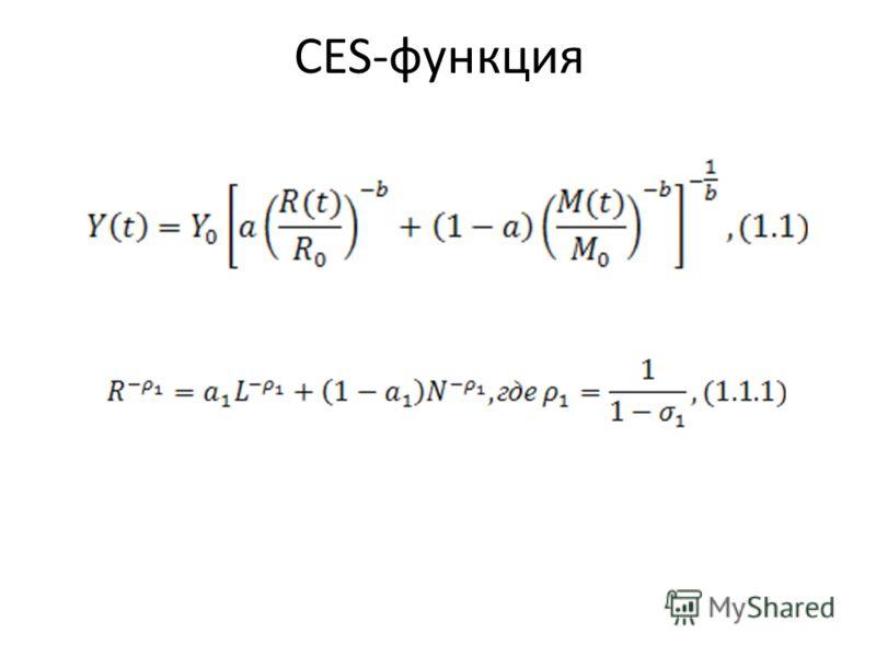 CES-функция