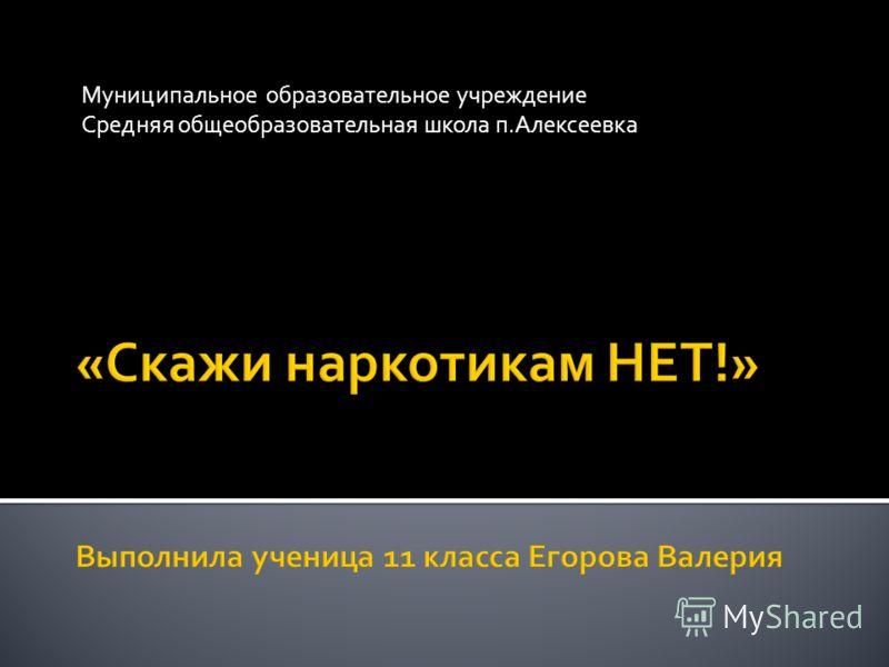 Муниципальное образовательное учреждение Средняя общеобразовательная школа п.Алексеевка