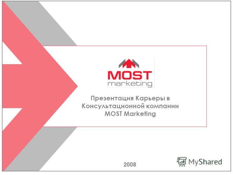 2008 Презентация Карьеры в Консультационной компании MOST Marketing
