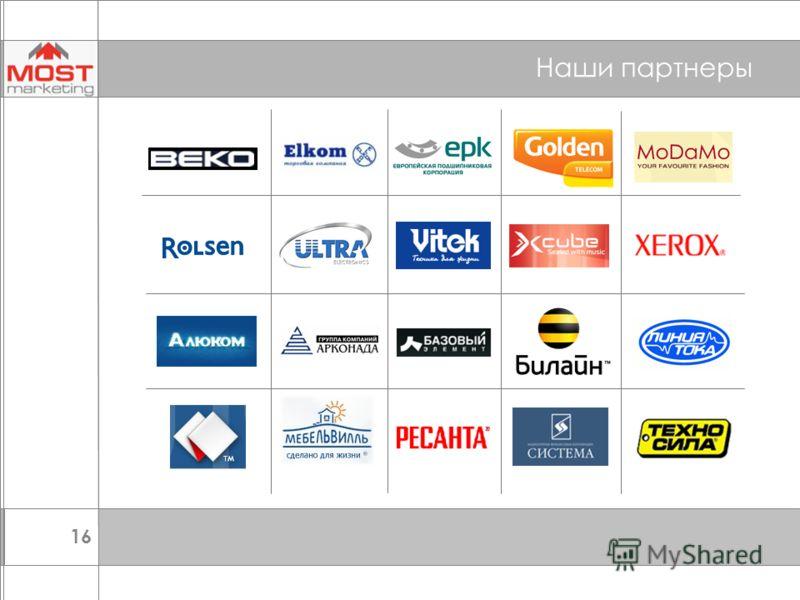 16 Наши партнеры