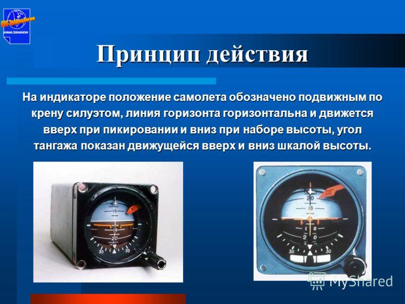 «Вид с земли на самолёт» Авиагоризонт этого типа был разработан в СССР и применялся на боевой и гражданской авиатехнике в различных модификациях. НОВЫЕ ТЕХНОЛОГИИ
