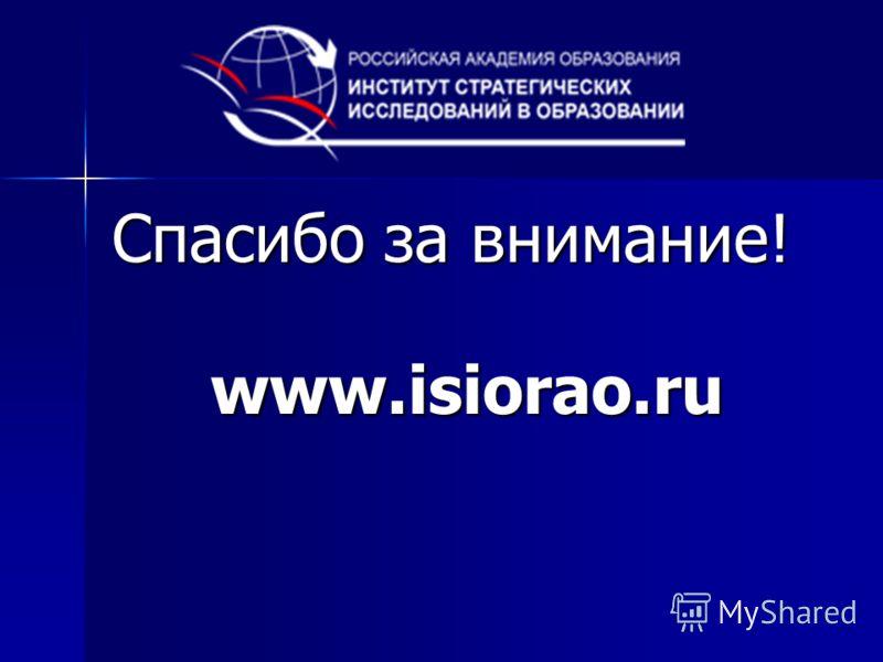 Спасибо за внимание! www.isiorao.ru
