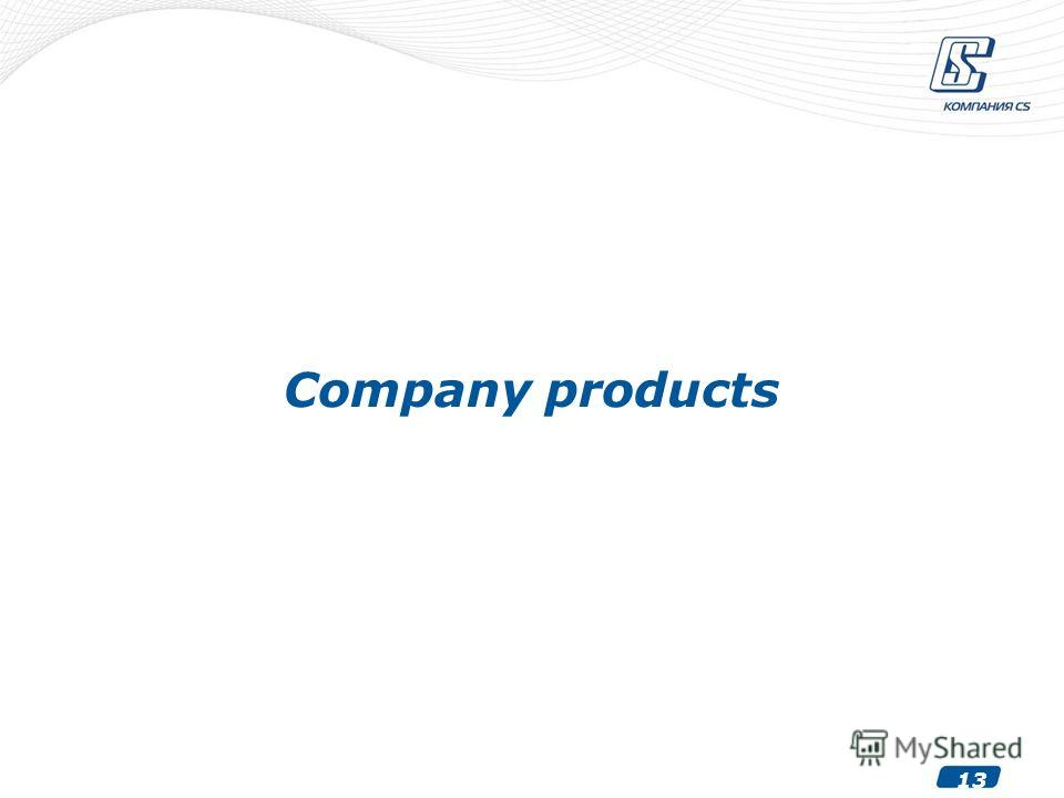 13 Company products
