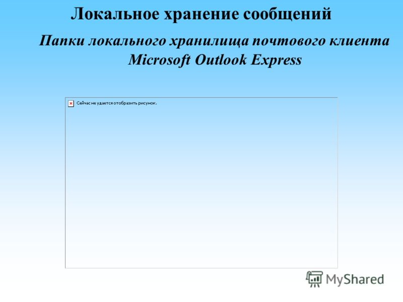Локальное хранение сообщений Папки локального хранилища почтового клиента Microsoft Outlook Express