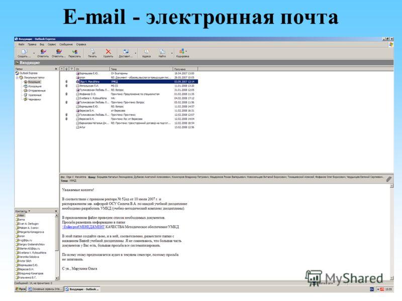 E-mail - электронная почта