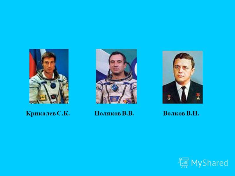 Крикалев С.К.Поляков В.В.Волков В.Н.